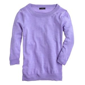 J Crew Merino Wool Tippi Sweater in Purple